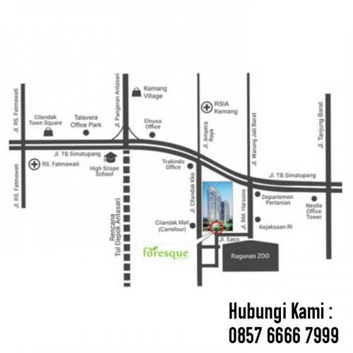 Jual Apartemen The Foresque Residence Ragunan Jakarta