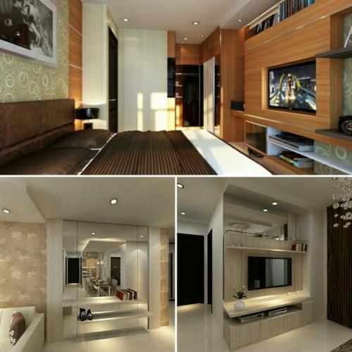 Interior Apartemen Studio Multifungsi