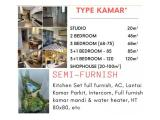 Apartment SKY HOUSE (samping AEON MALL + seberang THE BREEZE + seberang  ICE BSD) - DP 5% - SEMIFURNISHED
