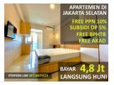 Apartemen Bintaro Park View Jakarta Selatan Siap Huni Tanpa DP Free PPN