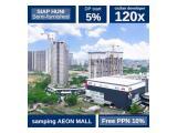 Jual Apartemen Sky House BSD (Samping AEON Mall + Seberang The Breeze + Seberang ICE BSD) – DP 5% – Semi-Furnished